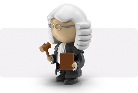 lawyer with grey hair