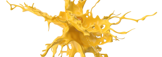 yellow ink splash