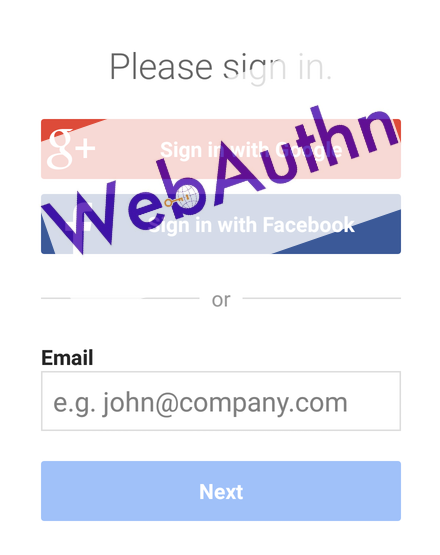 web authn log in