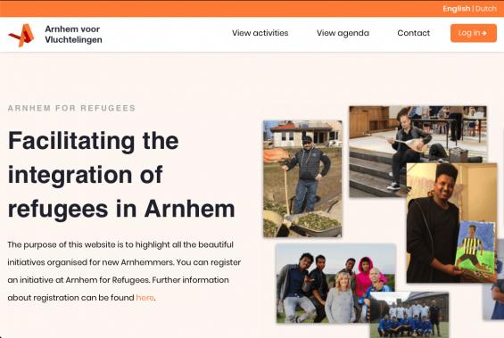 customer journey optimization website arnhem for refugees