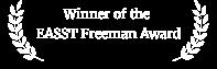 Winner OF THE EASST FREEMAN AWARD